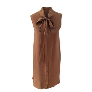 Belstaff Silk Sleeveless Pussybow Dress