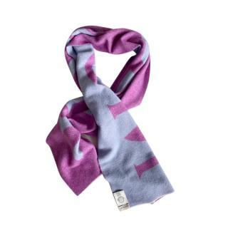 Moncler Bi-Colour Intarsia Wool Blend Scarf