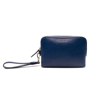 Burberry Midnight Blue Leather Pouch with Strap