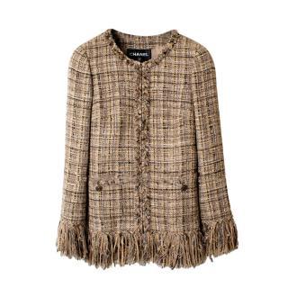 Chanel Beige Lesage Tweed Arctic Ice Jacket