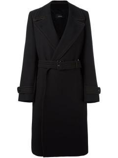 Joseph Black Virgin Wool Blend Khort Coat
