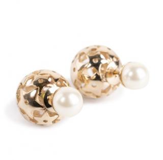 Dior Faux Pearl Star Tribales Earrings