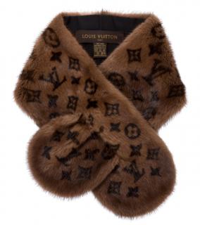 Louis Vuitton Monogram Mink Stole