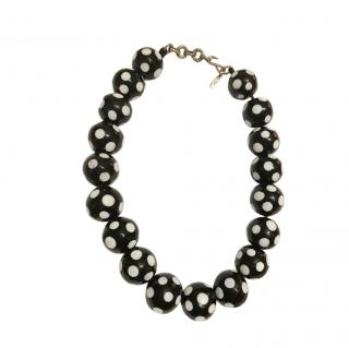 Yves Saint Laurent Vintage Polka Dot Necklace