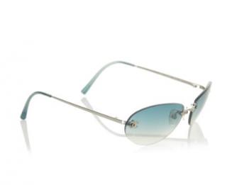 Chanel Round Blue Ombre Vintage Sunglasses