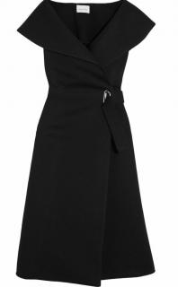 Beaufille Black Off Shoulder Wrap Dress