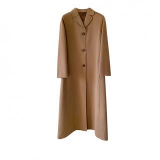Max Mara A-Line Camel Long Tailored Coat
