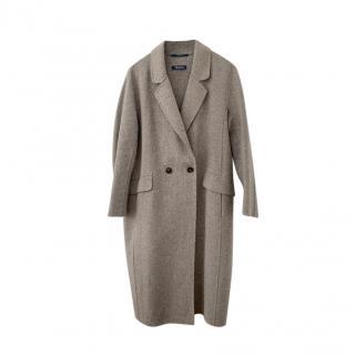 'S Max Mara Pure Virgin Wool Grey Coat
