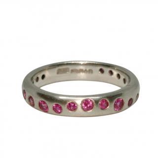Dower & Hall Platinum Set Pink Sapphire Fireworks Ring