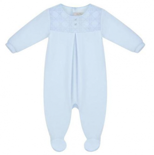 Dior Cannage Embroidered Pale Blue Babygrow