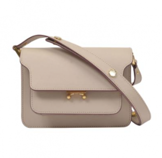Marni Beige Leather Mini Trunk Shoulder Bag