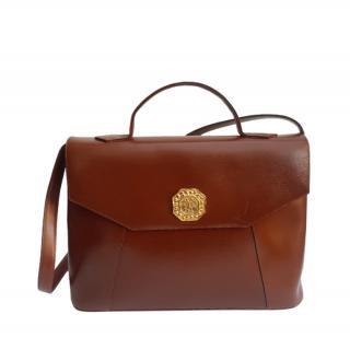 Yves Saint Laurent Vintage Tan Leather Shoulder Bag