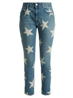 Stella McCartney Star Print Crop Skinny Jeans