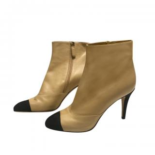 Chanel Bi-Colour Leather Ankle Boots