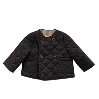 Burberry kids navy quilted jacket