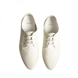 Celine White Canvas Low-top Trainers