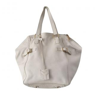 Yves Saint Laurent Ivory Large Downtown Tote Bag