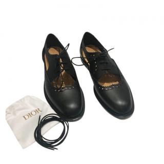 Teddy-D Derby Perforated Black Shoes