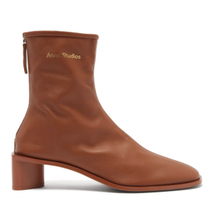 Acne Studios tan bertine stretch leather ankle boots