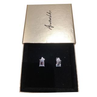 Annoushka 14kt White Gold Aquamarine & Diamond Earrings