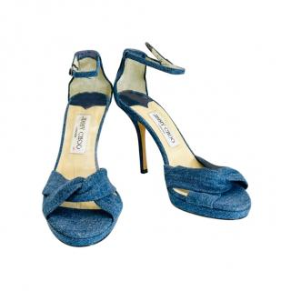 Jimmy Choo Denim Ankle Strap Sandals