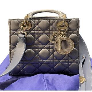 Dior Satin Crystal Embellished Medium Lady Dior Bag