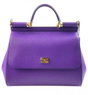 Dolce & Gabbana Purple Miss Sicily Tote Bag