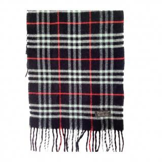 Burberry Blue Check Vintage Lambswool Scarf