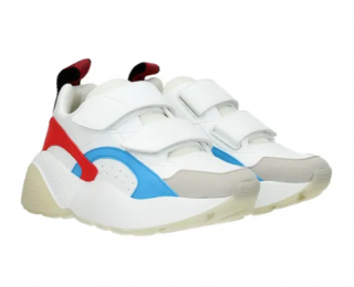 Stella McCartney White, Red & Blue Chunky Sneakers