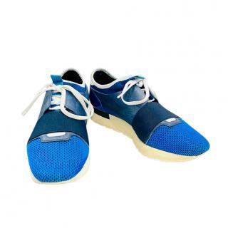 Balenciaga Race Runner  Blue Trainers