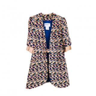 Chanel Paris/Dubai Multicoloured Leather Trim Tweed Jacket