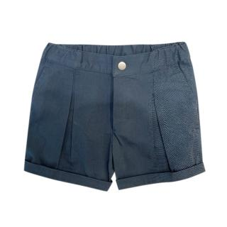 Baby Dior Blue Tailored Shorts