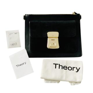 Theory Black Small Leather Clutch