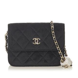 Chanel CC Timeless Pearl Crush Velvet Mini Shoulder Bag