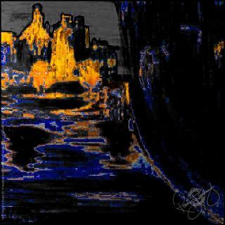 Rosemary Goodenough River Through A Curtain VII Silk Scarf