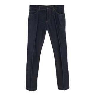 Ferragamo Men's Dark Indigo Classic 5 Pocket jeans