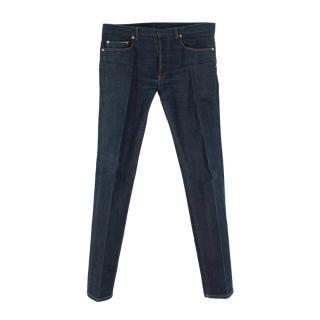 Dior Homme Dark Indigo Straight Leg 5 Pocket Jeans