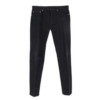 Dior Homme Black Straight Leg 5 Pocket Jeans