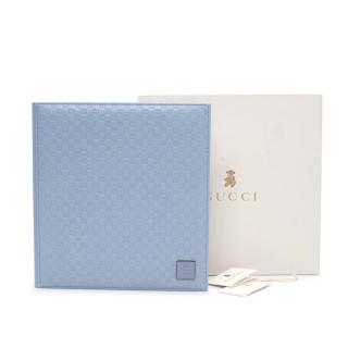 Gucci Baby Blue Microguccissima Leather Bound Baby Photo Album