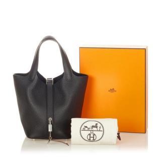 Hermes Black Togo Leather Picotin Lock 18