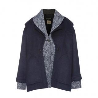 Chanel 2013 fall Navy grey Coat