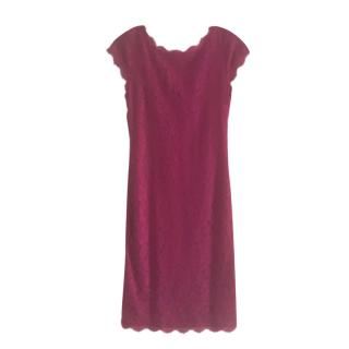 DVF Hot Orchid Barbara Lace Dress