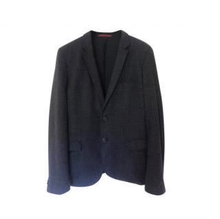 Boss Hugo Boss Blue Wool Blend Single Breasted Jacket