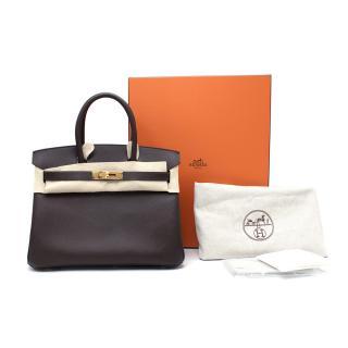 Hermes Epsom Leather Ebene Birkin 30 GHW