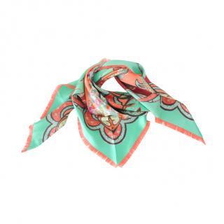 Etro Silk Pastel Printed Triangle Scarf