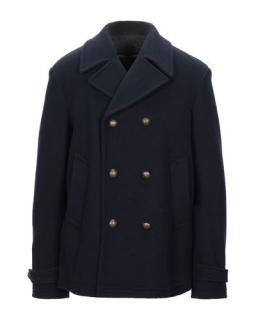 Dolce & Gabbana Blue Wool Blend Men's Pea Coat