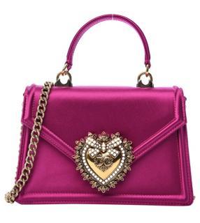 Dolce & Gabbana Metallic Pink Devotion Top handle Bag
