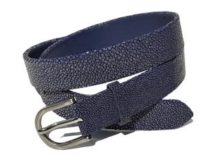 Hidetoshi Blue Stingray Leather Belt