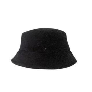 Chanel Black Teddy Clochet Bucket Hat - Size Small