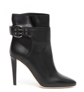 Jimmy Choo Black Leather Major 85 Ankle Boots